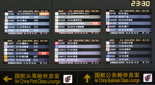 Beijing airport flight list