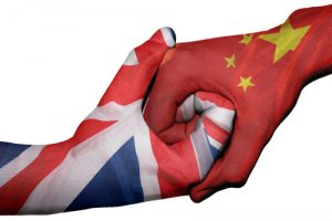 Britain China handshake