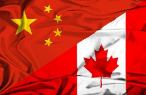 Canada and China flags