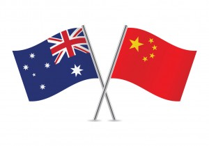 Flags of China and Australia