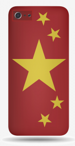 China Mobile phone and flag