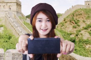 Great Wall and mobile phone