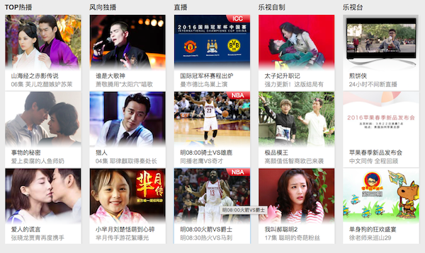 Letv.com screenshot