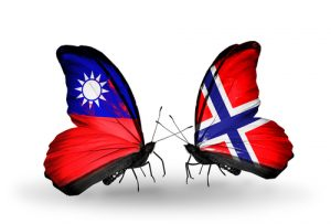 Norway and Taiwan flags