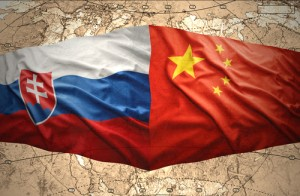 Slovakia and China flags