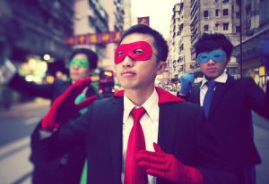 Superheroes in Hong Kong