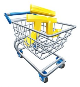 Yuan Renminbi shopping cart