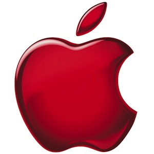 Apple logo red