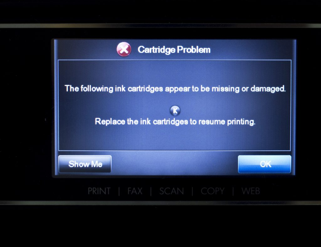 HP printer error